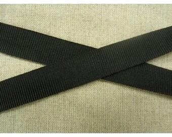 Ribbon grosgrain decorative 15 - black