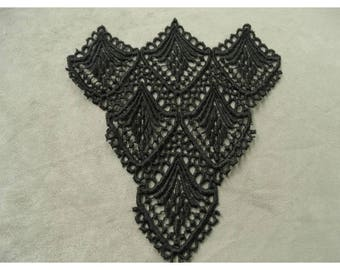 BLACK LACE OVERLAY