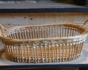 "Wicker basket with handles ""Matt"" 2"