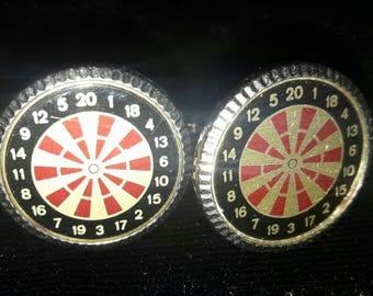 Darts Cufflinks, Dart board cufflinks