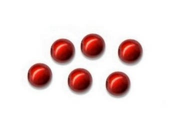 Wholesale lot of 100 magic beads 8mm - Red