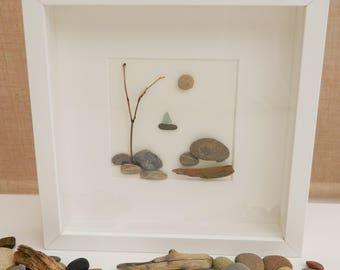 Pebble/Stone Art - 'Little Boat'