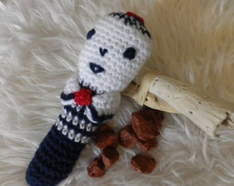 Rattle crochet little sailor