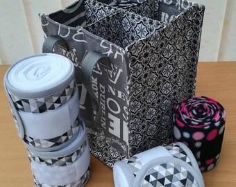 Storage bag for stripes polo or leggings.