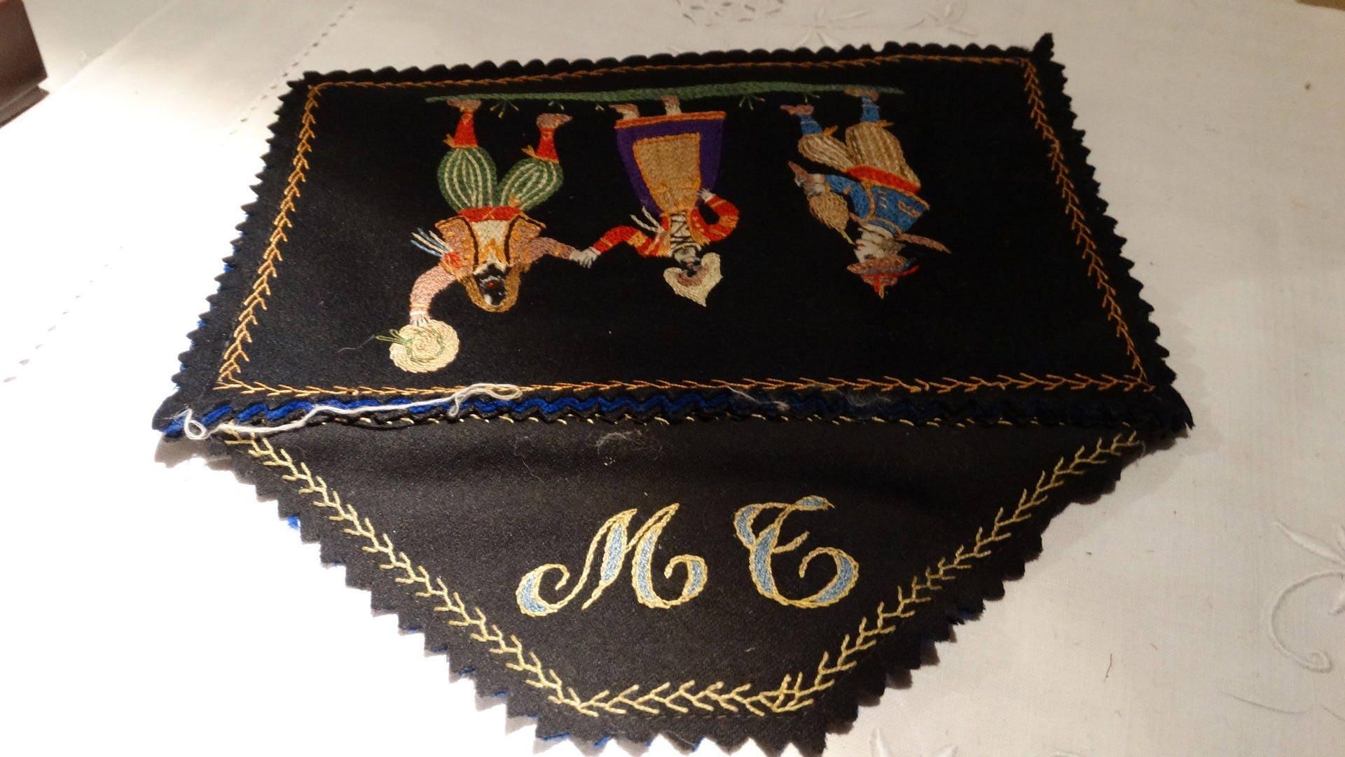 Sac vintage pochette vintage sac kitch trousse de couture for Trousse de couture ancienne