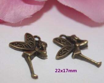 5 pendant, Bronze fairy 22x17mm - SK02667