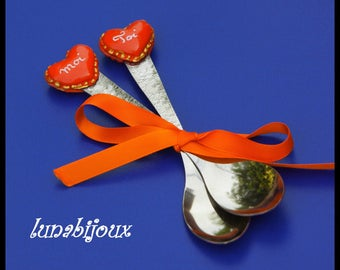 Teaspoons heart macaroon you & me red gifts