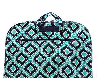 Blue/Navy Ikat Garment Bag