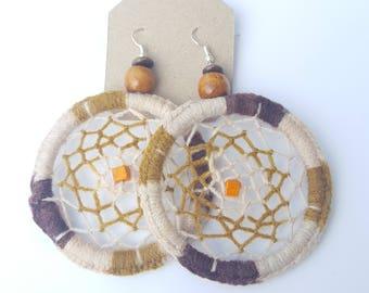 Circular Brown Earrings