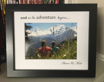 Personalized Photo Mat and Frame