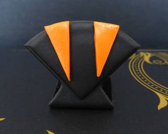 Orange triangle - graphic Collection Stud Earrings