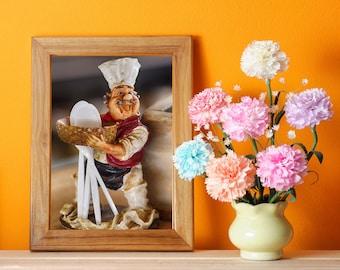 Canvas Print | Model Kitchen Chef | Printable Wall Art | Canvas Wall Art | Canvas Wall Hanging