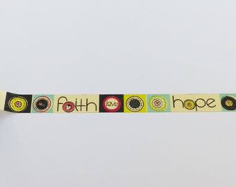 15 meters of masking tape 15 mm hope love faith multicolor 15 mm