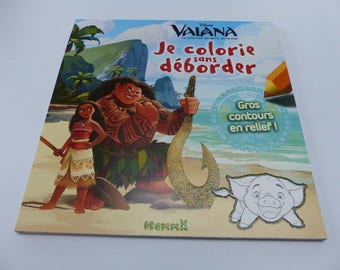 Thomas I color without overflowing big outline in glitter and embossed coloring book