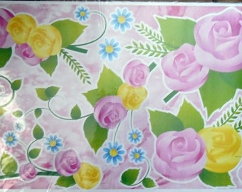 WALL DECALS FLOWERS * PINK E *.