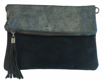 For woman leather bag and pouch
