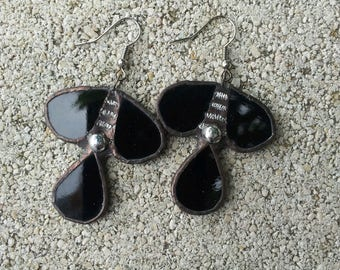 Earrings black patina Byzantine 2
