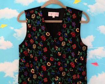 Vintage Women's Klaxon Silk Vest