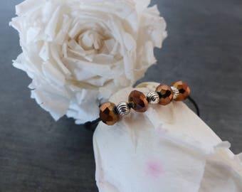 Bracelet sliding Brown Pearl