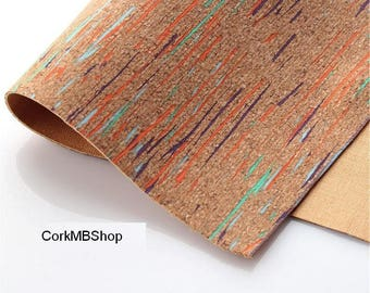60*88cm/23.6*34.6inch Natural colorful cork leather natural Material