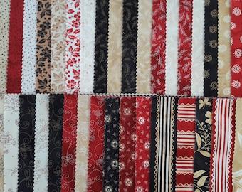 Assorted fabrics patchwork 42 square 25 x 25 cm