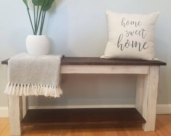 Farmhouse Bench | Entryway Bench | Bedroom Bench | Dining Bench (Local delivery or pick-up only)