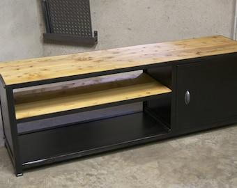 Metal industrial Tv stand & wood model 160 cm