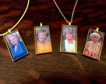 Golden Girls Pendant Set of 4 - Rose Nylund/Blanche Devereaux/Dorothy Zbornak/Sophia Petrillo!