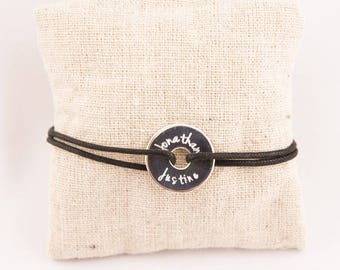 Target engraved sterling silver personalized - custom engraved jewelry bracelet
