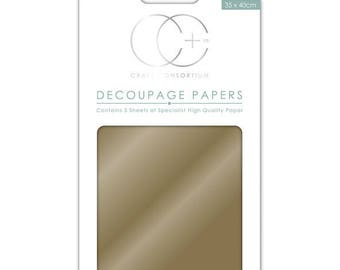 Paper patch (3 sheets) metallic gold - CCMDECP001