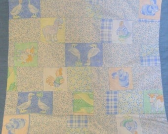 Small plaid lined fleece baby blanket