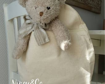 Backpacks for children personalized Natural Beige