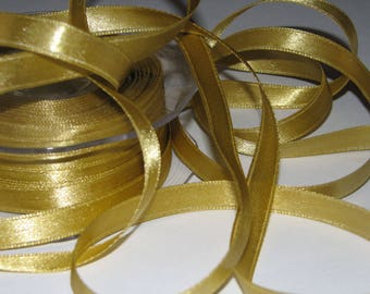 4.70 meters width 15 mm gold satin ribbon