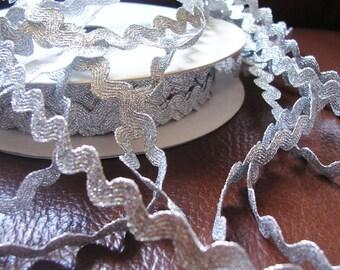 Croquet Serpentine silver Lurex 11 mm