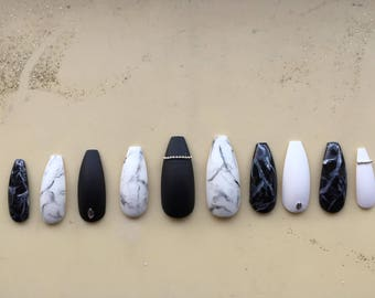 Long marble coffin nails