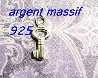 sterling silver key charm 925