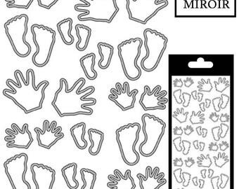 Feet/hands stickers - Silver mirror - STI25930MSI
