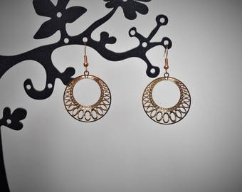 Earrings light golden prints
