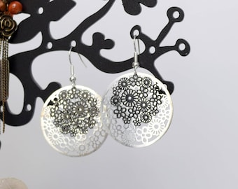Black and Silver earrings lightweight