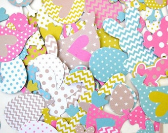 Embellishments - Die cut - factory Easter - 66 forms in paper Color - Toga - new