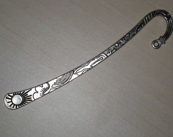 Bookmark in silver metal Sun and stars