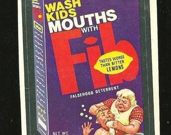 1970's Wacky Packages FIB Soap Sticker Packs Vintage
