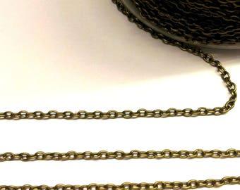 bronze mesh chain 56cm