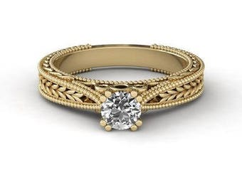 Vintage Engagement Ring, 14K - 18K + Diamonds