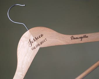 Bridesmaid Dress Hanger. Wedding Hanger, Bridal Hanger, Dress Hanger , Personalized Custom Wedding Hanger, Personalized Hanger