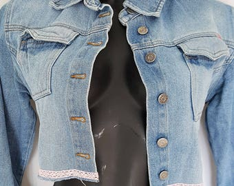Denim jacket short