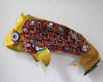 Santa Fe Bottle Cap Fish