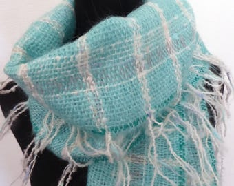 Cosy but Cool handwoven mohair scarf