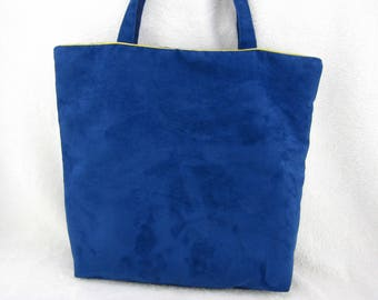 bag large Royal Blue Suede Tote