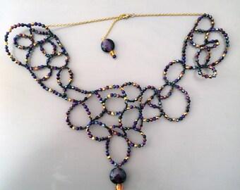 Great necklace Venetian swirls, very decorative